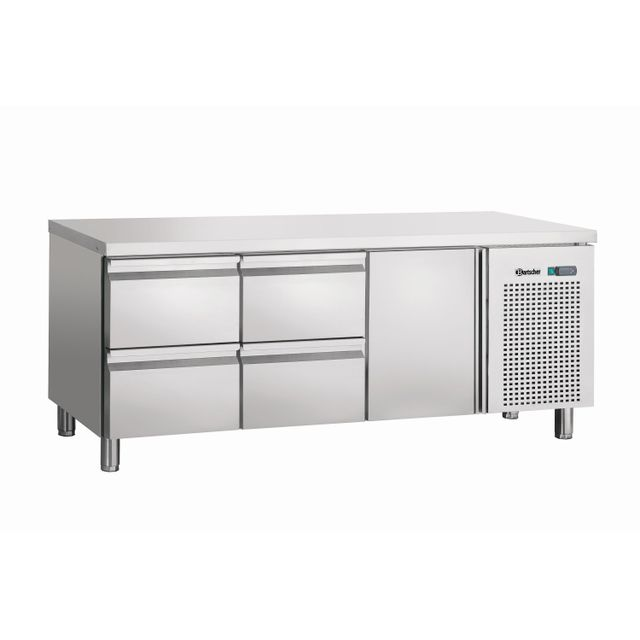 Bartscher Table refrigeree, froid ventile, 1T, 4SL