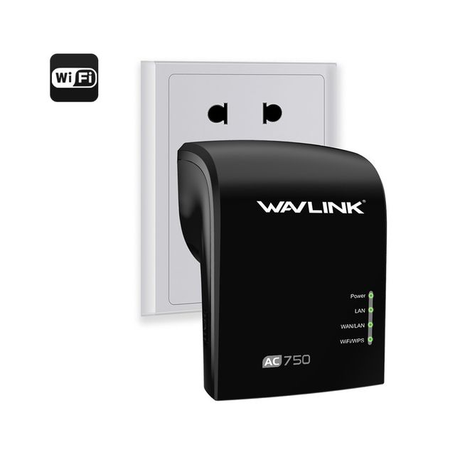 Auto-hightech Amplificateur extension wifi 2.4G / 5G Connexion à deux bandes, Plug and Play, 3x 3dBi