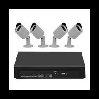 Auto-hightech - Kit Nvr 4 canaux 1080P - 4X 1080P Caméras PoE, détection de mouvement, notification d'alarme, visualisation à distance