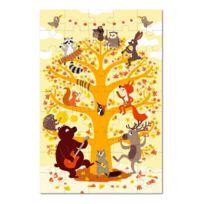 Krooom - Puzzle 45 pièces à plat en mallette : Orchestre des animaux de la forêt