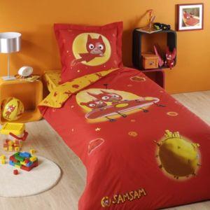 vds parure de lit samsam rouge 1 housse de couette 1. Black Bedroom Furniture Sets. Home Design Ideas