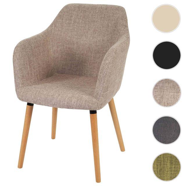 mendler chaise de s jour salle manger malm t381 style r tro des ann es 50 tissu. Black Bedroom Furniture Sets. Home Design Ideas