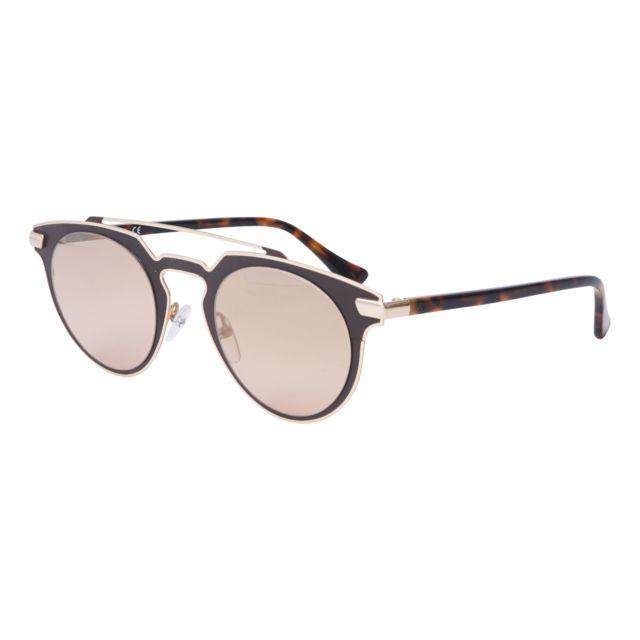 dd506c24a5e374 Calvin Klein - Ck-2147-S 210 Marron mat - Or - Lunettes de soleil - pas  cher Achat   Vente Lunettes Tendance - RueDuCommerce