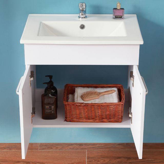 Meuble de salle de bain modèle de Anlovi 58x38x50cm Ensemble meuble salle  de bain et vasque