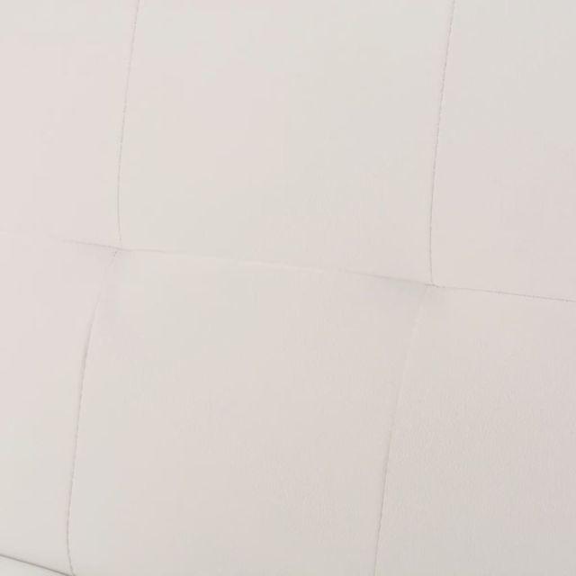 ICAVERNE Canapés gamme Canapé-lit réglable avec 2 oreillers Cuir synthétique Blanc crème
