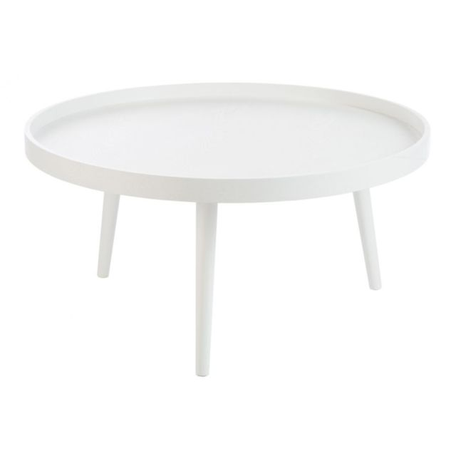 HELLIN TABLE BASSE RONDE BOIS BLANC
