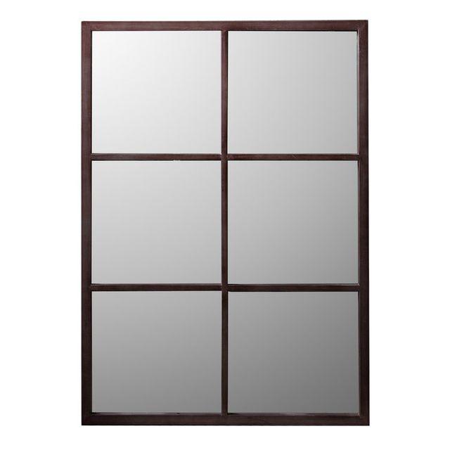 dlm miroir industriel rectangulaire en m tal rouille. Black Bedroom Furniture Sets. Home Design Ideas
