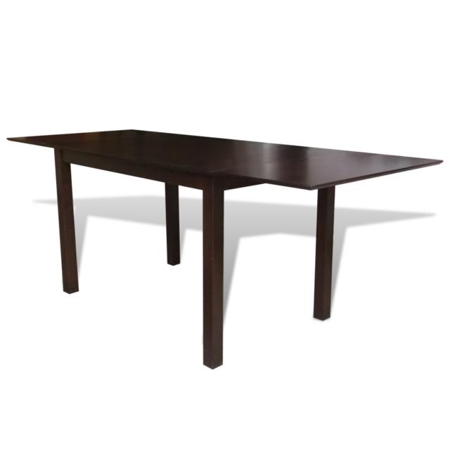 Vidaxl Table extensible marron 195 cm en bois massif
