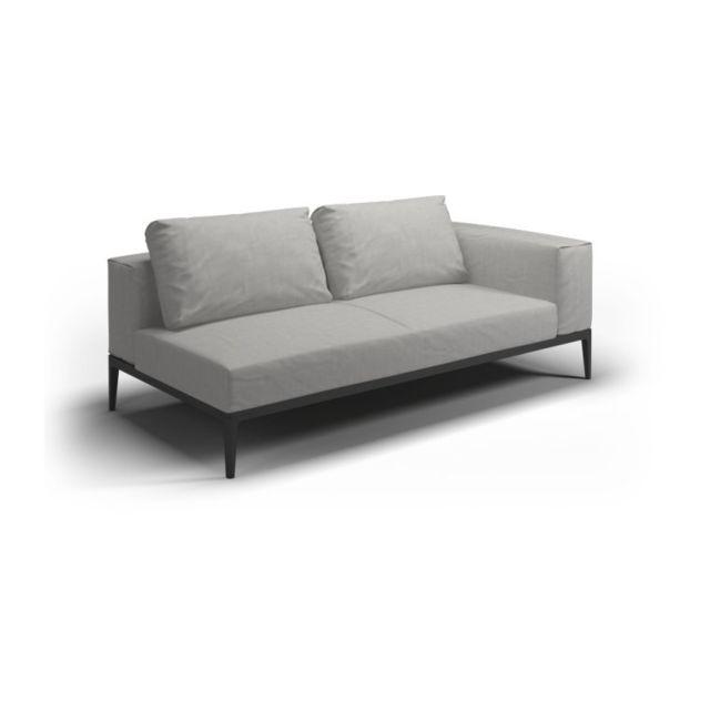 Gloster Sofa Grid - gris clair - Acier époxy gris