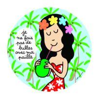 Arty Frog Paris - Assiette plate 20 cm Les princesses : Je ne fais pas de bulles avec ma paille