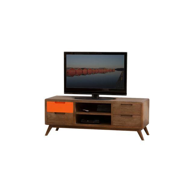 Meuble tv 4 tiroirs 2 niches
