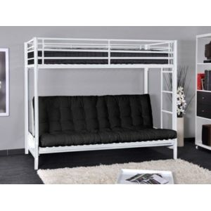 vente unique lit mezzanine modulo iv 90x190cm coloris blanc pas cher achat vente. Black Bedroom Furniture Sets. Home Design Ideas