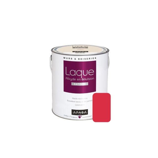 Apara - Laque alkyde satinée pour murs et boiseries-2.5 litres-Passion