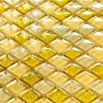 Capri - Carrelage pâte de verre Luxe Gold