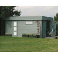 Dedans Dehors - Garage en bois Moderne Solid 17,07m
