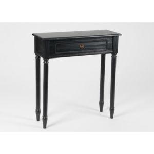amadeus petite console en bois faux tiroir brice noir pas cher achat vente consoles. Black Bedroom Furniture Sets. Home Design Ideas