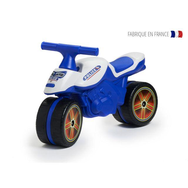 dcfcec7a3ec FALK - Porteur bébé moto de police - pas cher Achat   Vente Chevaux ...