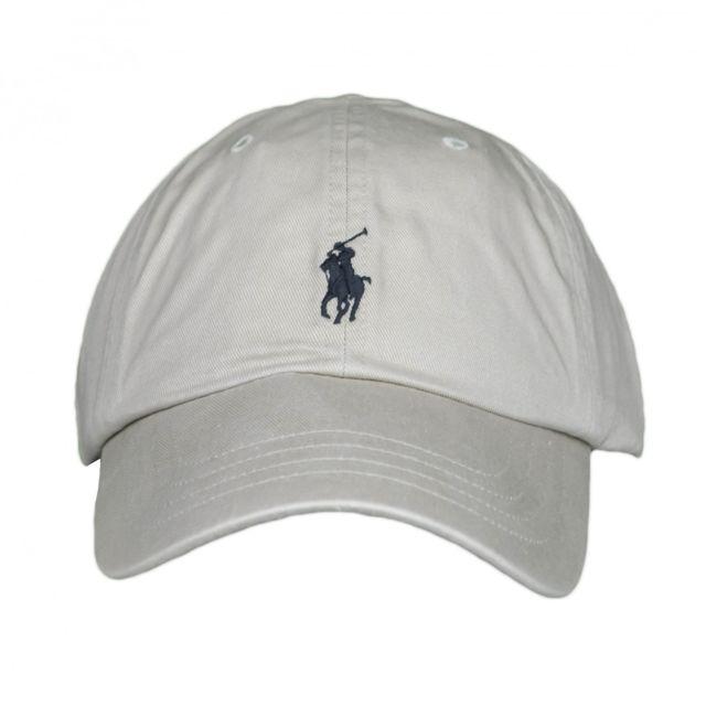 Ralph Lauren - Casquette beige logo noir mixte - pas cher Achat   Vente  Casquettes, bonnets, chapeaux - RueDuCommerce 8e35bb04a90