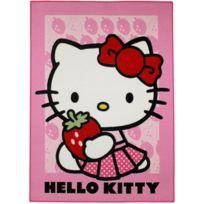 HELLO KITTY - Tapis STRAWBERRY Tapis Enfants par rose 95 x 133 cm