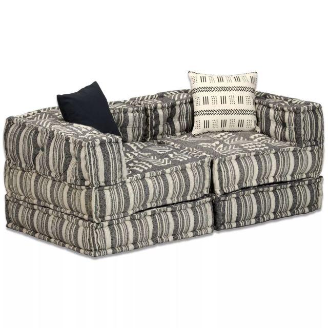 Splendide Meubles categorie Palikir Canapé modulaire à 2 places Tissu Rayure