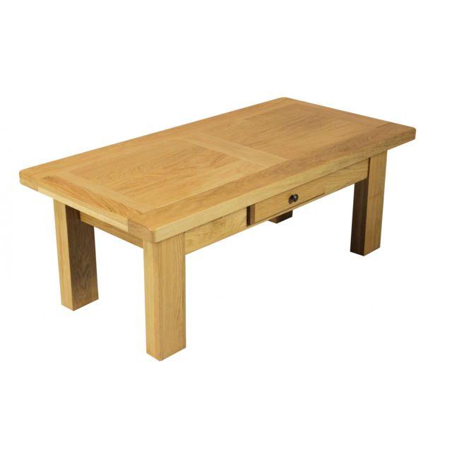 06a7f92bd1a77 HELLIN - Table basse rectangle LA BRESSE - bois chêne massif - pas ...
