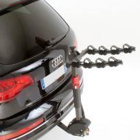 Mottez - Porte-vélos suspendus sur attelage 4 vélos rabattable Montage immédiat sur la boule d'attelage Porte-vélos suspendus attelage 4 vélos, rabattable Le porte-vélos suspendus attelage est fixé à l'aide d'un système d'encliquetage rapide easy click