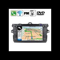 Auto-hightech - Autoradio 2 din Dvd Bluetooth Gps Mp5 Tv noir