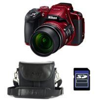 Nikon - Bridge Coolpix B700 Rouge + Etui + Carte Sd 4 Go