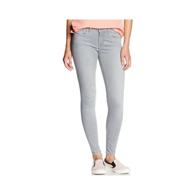 5380de136 Pepe Jeans - Jean Skinny Lola Gris Femme Gris W25-L30 - pas cher ...