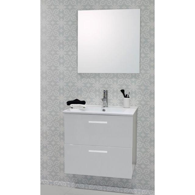 Caisson De Meuble De Salle De Bain Modulable Malea 60cm Blanc Spot