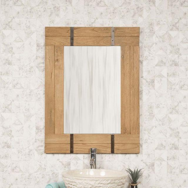 Wanda Collection Miroir de salle de bain naturel Loft 60x80 naturel