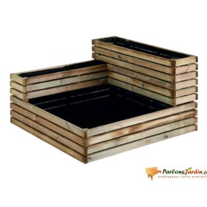 jardipolys carr de potager modulable en bois trait k b pas cher achat vente carr. Black Bedroom Furniture Sets. Home Design Ideas