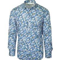Serge Blanco - chemise liberty bleu