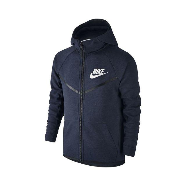 Nike - Sweat Tech Fleece Windrunner Junior - 804730-473 Bleu - 12 - pas  cher Achat   Vente Pull enfant - RueDuCommerce 3e63dec70209