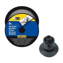 Deca - Bobine fil acier pour soudure Mig/MAG 0.8mm 5kg avec adaptateur