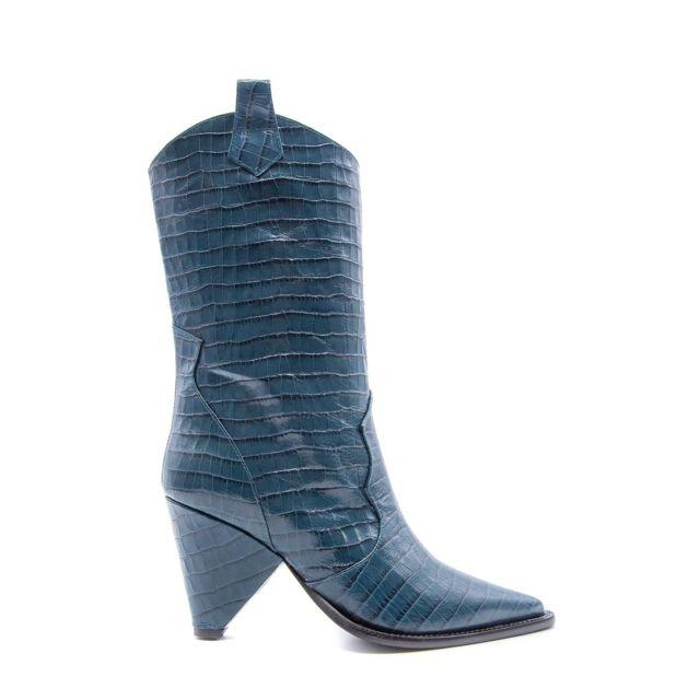 Aldo Castagna Femme Desi13380BLUE Bleu Cuir Bottines