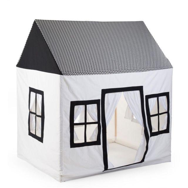 Childhome Grande Maisonnette 125x95x145cm Coton Polyester Noir Blanc