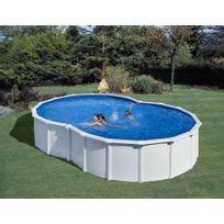 Gre Pools - Kit piscine hors sol acier en 8 Varadero avec renforts en U