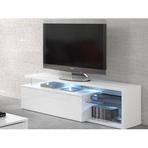 habitat et jardin meuble tv led blue light 150 x 41 x 43 cm blanc blanc brillant pas. Black Bedroom Furniture Sets. Home Design Ideas