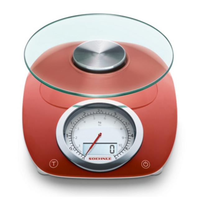 Soehnle Balance De Cuisine Electronique 5kg 1g Rouge 0866229
