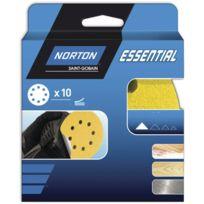 Norton Clipper - 10 disques abrasifs Ø 150 mm NORTON 6 trous auto-agrippants Grain 180 - 66623396953
