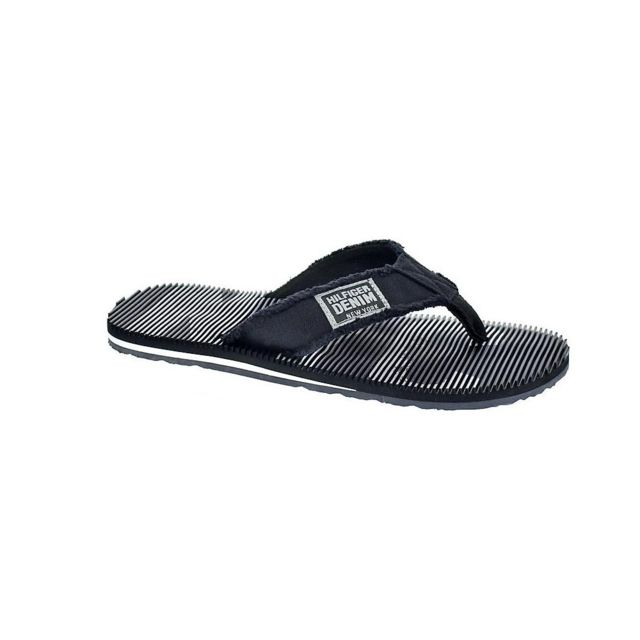6ee69efd8c238 Tommy hilfiger - Chaussures Homme Tongs modele Beach Noir - 44 - pas cher  Achat   Vente Sandales et tongs homme - RueDuCommerce