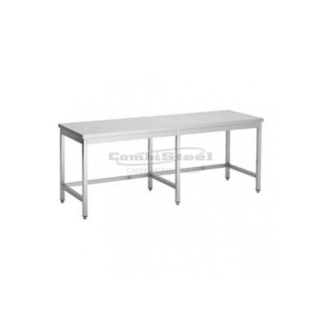 Combisteel Table Inox Pro Sans Etagère Avec Renfort - Gamme 700 inox 2100x700 700