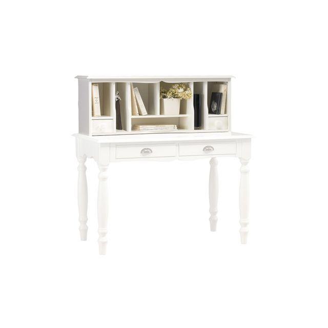 Surmeuble pour table à écrire blanche