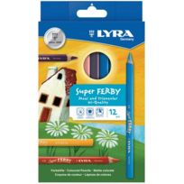 Lyra - crayon de couleur triangulaire super-ferby - etui de 12