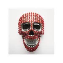 3b950e01337 Universel - Boucle de ceinture crane 3d strass rouge tete de mort femme