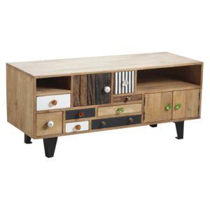 aubry gaspard meuble tv original en manguier pas cher achat vente meuble tv rueducommerce. Black Bedroom Furniture Sets. Home Design Ideas