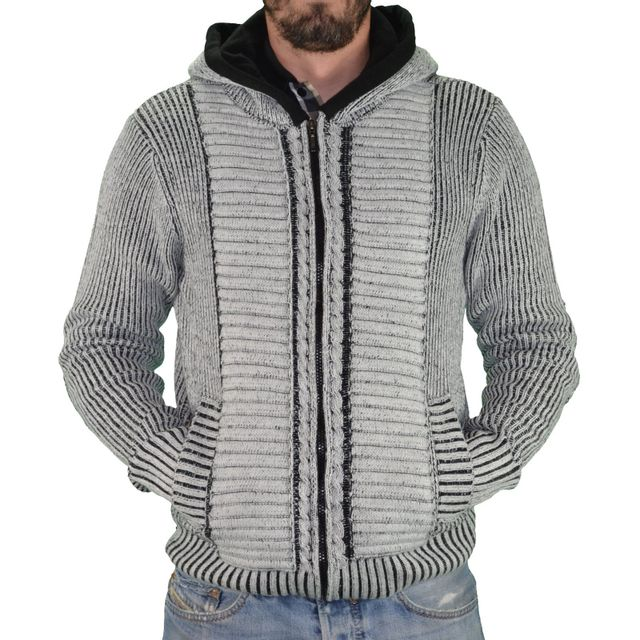 Homme Tricot Capuche Veste Biaggio Pobla Épais Pas À Blanc 7gqXw