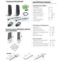 Cardin - Kit Automatisme bras droit sérieBL824,av batterie,pr portails battants