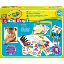 Crayola - Mon premier coffret coloriage et gommettes Mini Kids